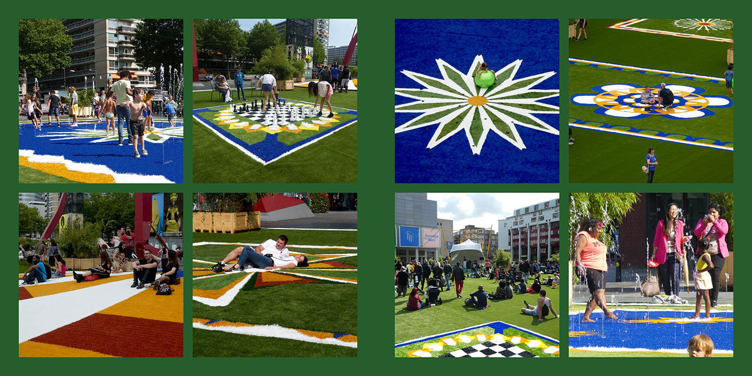 Flying Grass Carpet placemaking