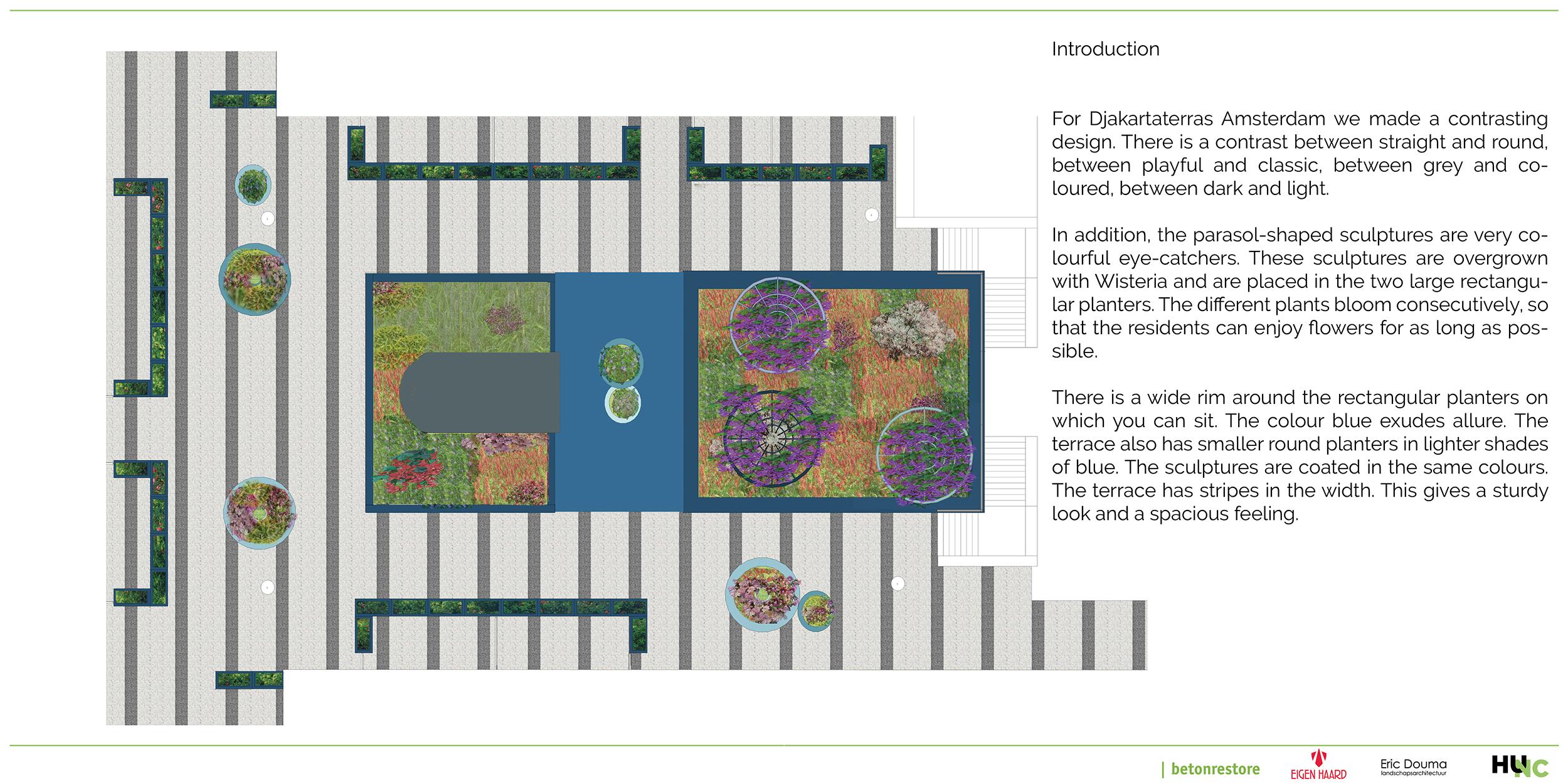 Djakartaterras redesign communal garden
