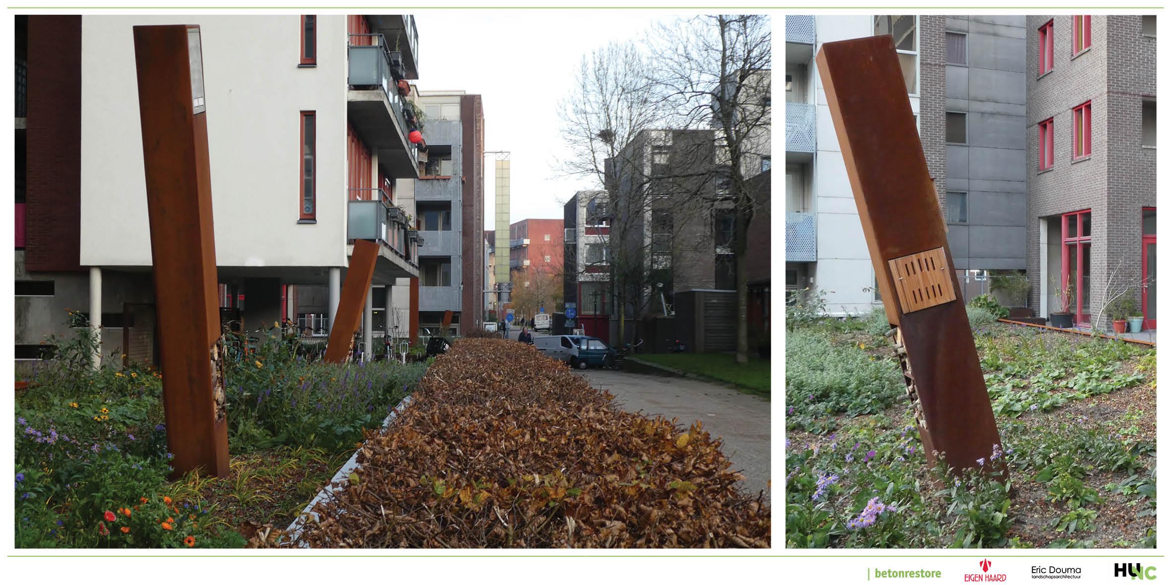 vergroening van de stad, speciaal ontwerp voor vleermuizen, vogels, vlinders en insecten